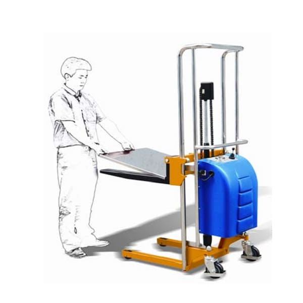 Electric Fork Type Stacker With Platform