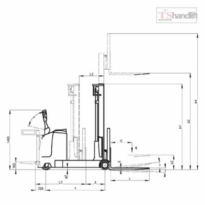 Electric Reach Stacker Drawing