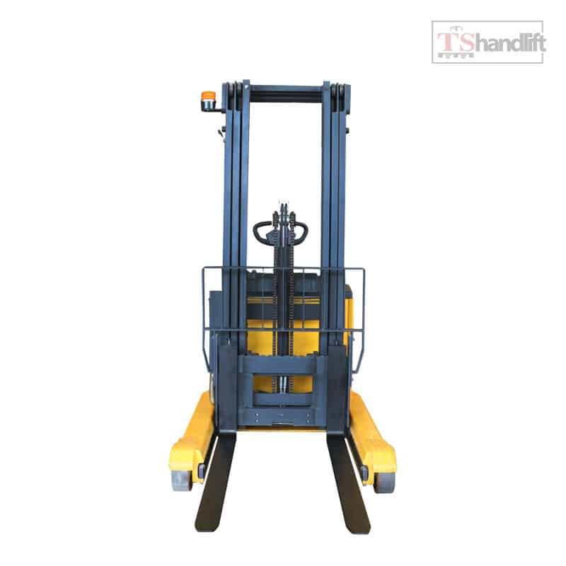 Electric Reach Stacker Front Side