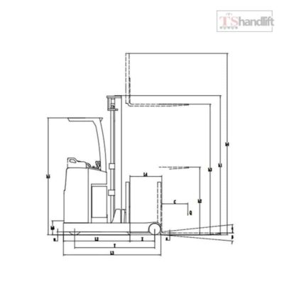 Electric Stand Up Reach Truck Drawing