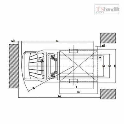 Electric Stand Up Reach Truck Drawing Structure